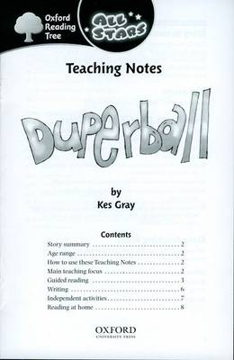 Oxford Reading Tree: All Stars: Pack 3A: Teaching Notes by
