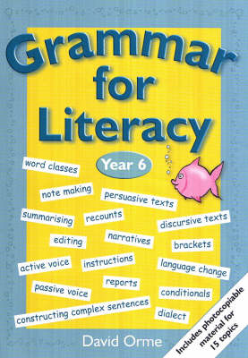 Grammar for Literacy Year 6 by David Orme