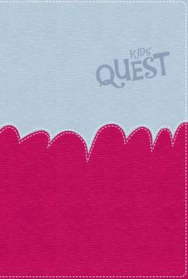 NIrV Kid's Quest Study Bible Light Blue/Hot Pink by Zonderkidz