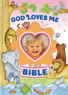 God Loves Me Bible Photo Frame on Cover by Susan Elizabeth Beck