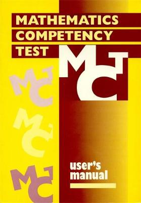 Mathematics Competency Test SPECIMEN SET by Philip E. Vernon, Ken Miller, F. J. Izard