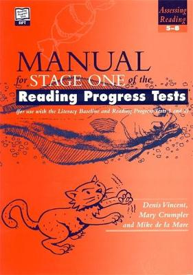 Reading Progress Tests, Stage One SPECIMEN SET by Denis Vincent, Mary Crumpler