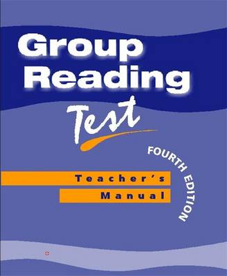 Group Reading Test Manual Teacher's Manual by Dennis Young
