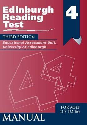 Edinburgh Reading Test (ERT) 4 Specimen Set A Series of Diagnostic Teaching AIDS by Educational Assessment Unit University of Edinburgh