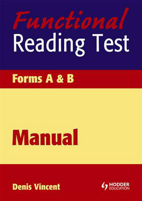 Functional Reading Tests Speciment Set by Denis Vincent, Mary Crumpler
