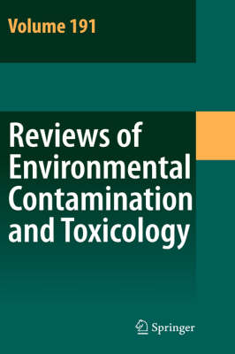 Reviews of Environmental Contamination and Toxicology Continuation of Residue Reviews by Dr. George W. Ware