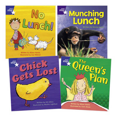 Learn at Home:Phonics Pack 4 (3 Fiction and 1 Non-fiction Book) by Alison Hawes, Jill Atkins, Emma Lynch