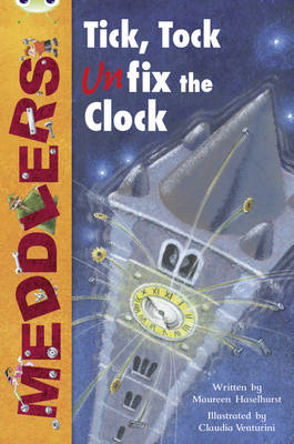 Meddlers: Tick, Tock, Unon-Fictionix the Clock Lime A/3c by Maureen Haselhurst