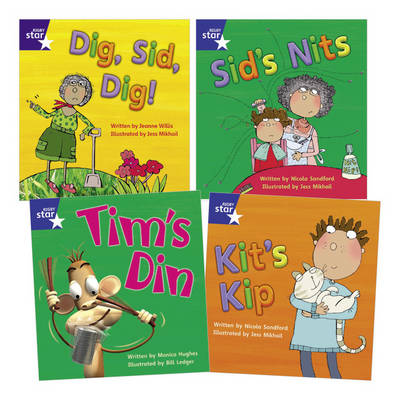 Star Phonics Pack 1 (4 Fiction Books) by Monica Hughes, Jeanne Willis, Nicola Sandford