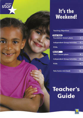 Rigby Star Shared Reception Non-Fiction: It's the Weekend Teachers Guide by