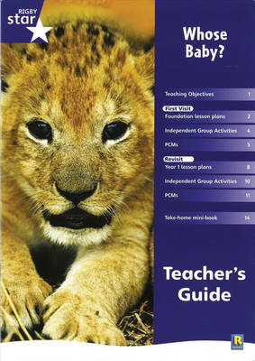 Rigby Star Shared Reception Non-fiction: Whose Baby? Teachers Guide by