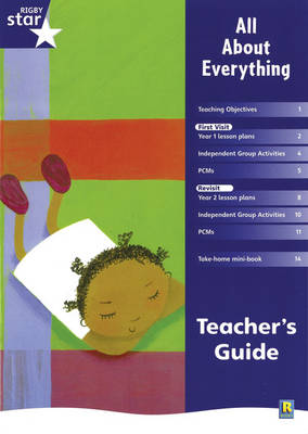 Rigby Star Shared Year 1 Fiction: All About Everything Teachers Guide by