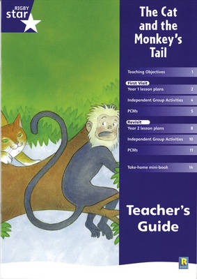 Rigby Star Shared Year 1 Fiction: The Cat and the Monkey's Tail Teachers Guide by