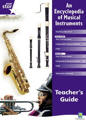 Rigby Star Shared Year 2 Non-fiction: Encyclopedia of Musical Instruments Teachers Guide by