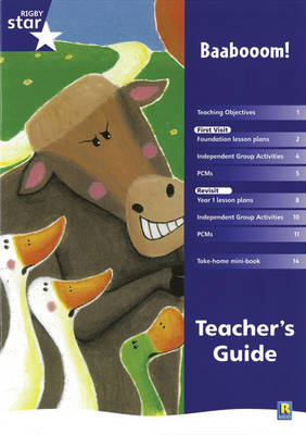 Rigby Star Shared Reception Fiction: Baa Boom Teacher's Guide by