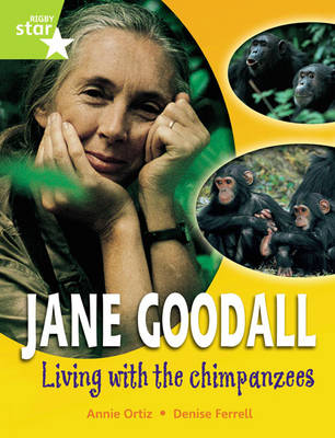Rigby Star GUI Quest Year 2 Lime Level: Jane Goodall: Living with Chimpanzees Reader Sgle by