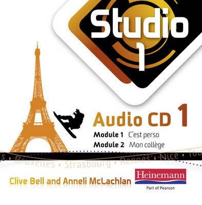Studio 1 Audio CDs (Pack of 3) (11-14 French) by Anneli McLachlan, Clive Bell