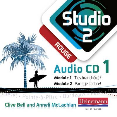 Studio 2 Rouge Audio CDs (Pack of 3) (11-14 French) by Anneli McLachlan, Clive Bell