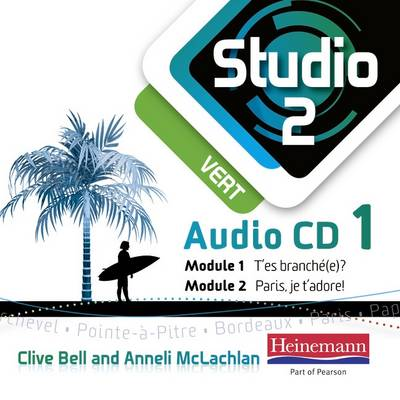Studio 2 Vert Audio CDs (Pack of 3) (11-14 French) by Anneli McLachlan, Clive Bell