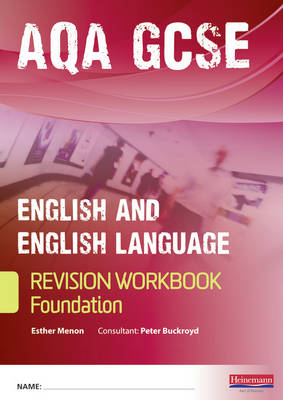 Revise GCSE AQA English Language Workbook Foundation Pack of 10 by Esther Menon