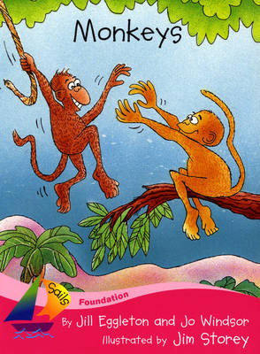 Sails Foundation Pink A: Monkeys by