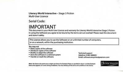 Literacy World Interactive Stage 3 Fiction Multi User by