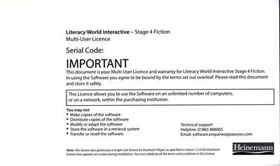 Literacy World Interactive Stage 4 Fiction Multi User Pack Version 2 Framework by