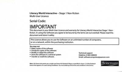 Literacy World Interactive Stage 1 Non-Fiction Multi User Pack Version 2 Framework by