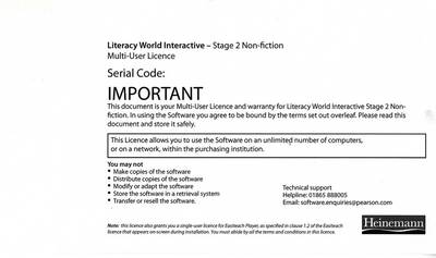 Literacy World Interactive Stage 2 Non-Fiction Multi User Pack Version 2 Framework by