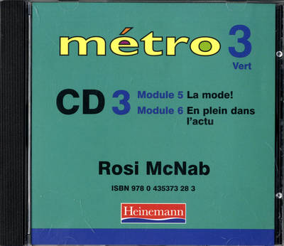 Metro 3 Vert Audio CD 3 by