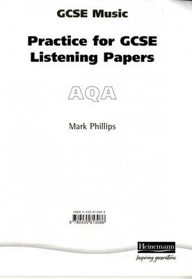 Practice for AQA GCSE Music Listening Paper: Pack of 8 by Mark Phillips