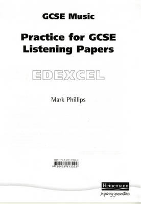 Practice for Edexcel GCSE Music Listening Paper 8 Pack by Mark Phillips