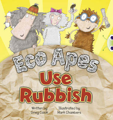 Eco Apes Use Rubbish (Red A) by Greg Cook