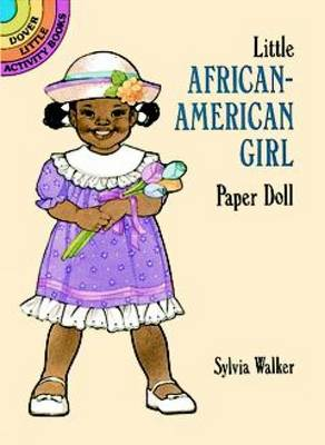 Little African-American Girl Paper Doll by Sylvia Walker