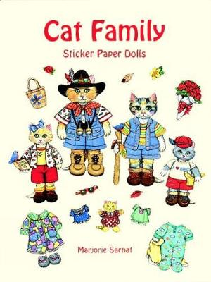 Cat Family Sticker Paper Dolls by Marjorie Sarnat