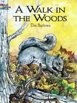 A Walk in the Woods Coloring Book by Dorothea Barlowe