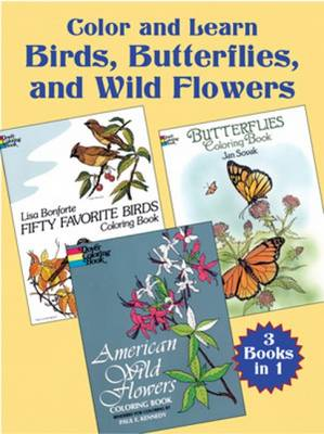 Color and Learn: Birds, Butterflies by Dover
