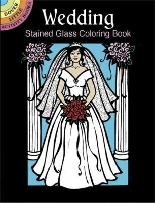 Wedding Stained Glass Coloring Book by Pat Stewart