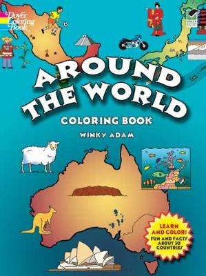 Around the World Coloring Book by Winky Adam