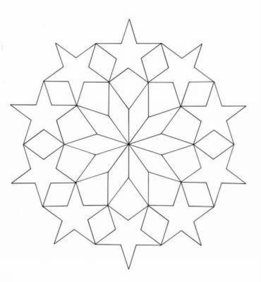 Geometric Star Designs Coloring Book by A. G. Smith