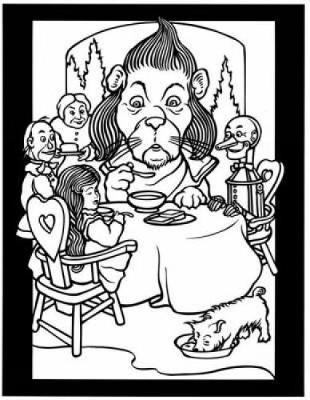 The Land of Oz Stained Glass Coloring Book by Marty Noble