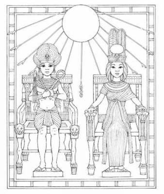 King Tut Coloring Book by Patricia J. Wynne