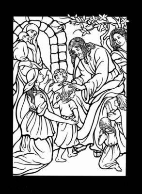 The Life of Jesus Stained Glass Coloring Book by Marty Noble