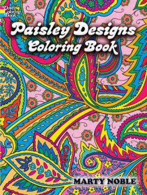 Paisley Designs Coloring Book by Marty Noble