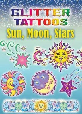 Glitter Tattoos Sun, Moon, Stars by Anna Pomaska