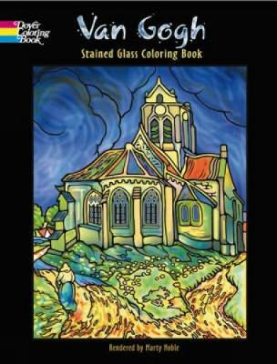 Van Gogh Stained Glass Coloring Book by Marty Noble