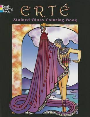 Erte Stained Glass Coloring Book by Marty Noble