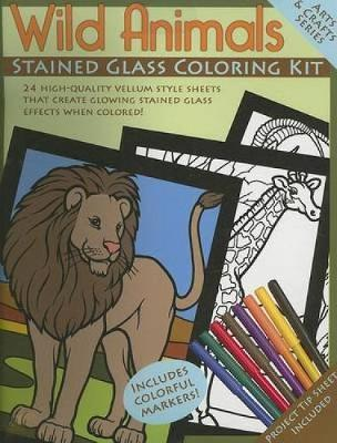 Wild Animals Stained Glass Coloring Kit by Dover Publications Inc