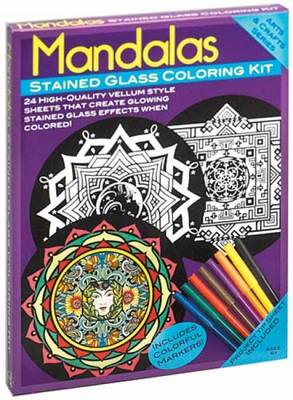 Mandalas Stained Glass Coloring Kit by Marty Noble