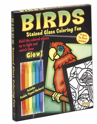 Birds Stained Glass Coloring Fun by John Green